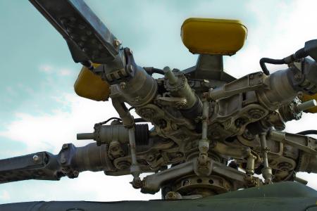 Turbine of airplane, close up
