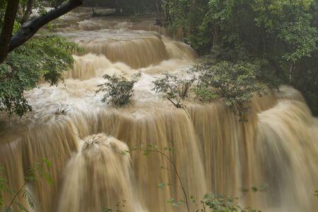 Huay Mae Khamin waterfall, Kanchanaburi Province, Thailand  Stock Photo