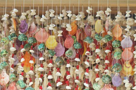 Curtain made of seashells Stock Photo - 16050658