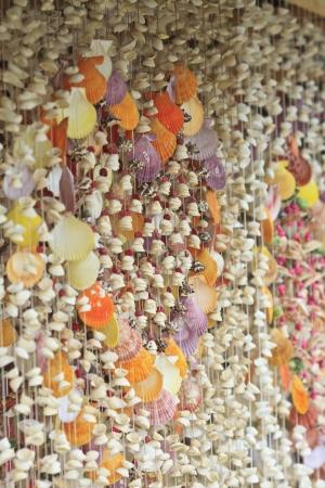Curtain made of seashells photo