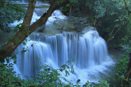falling tide: Waterfall on a mountain stream Stock Photo