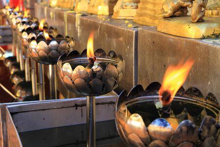 flame like: oil lamp Stock Photo