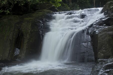 waterfall in deep forest Stock Photo - 17110808