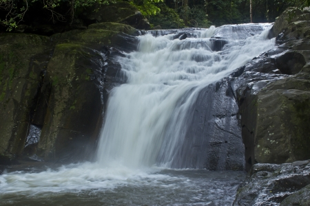 waterfall in deep forest Stock Photo - 17110813
