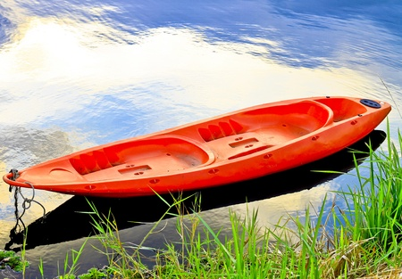 beautiful scenery , boats in lake,thailand  Stock Photo - 17416816