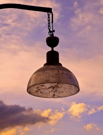lighting fixtures in sunset Stock Photo - 17414721
