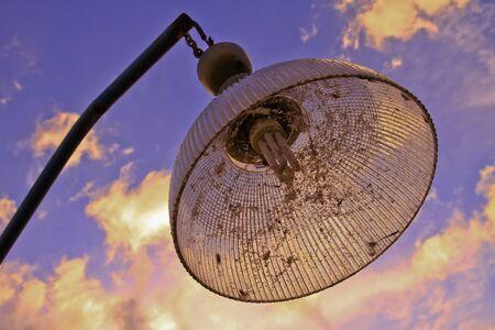 lighting fixtures in sunset Stock Photo - 17416832