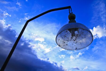 lighting fixtures in sunset Stock Photo - 17416817