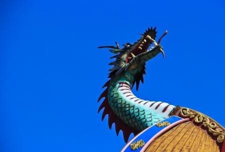 Viking ship dragon head  Stock Photo