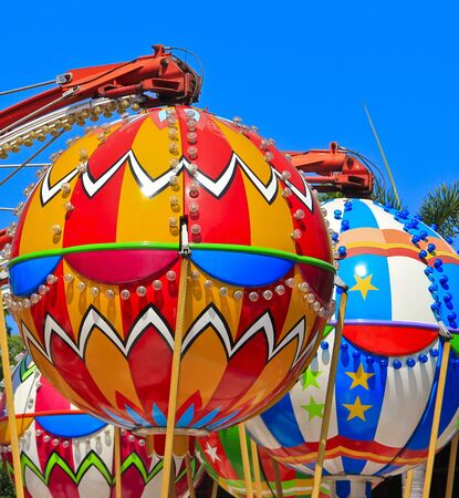 Balloon spinning amusement park photo