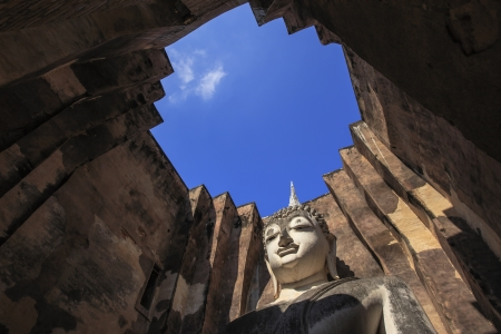 Beautiful Phra Atchana,Sri Chum temple, the Sukhothai Historic Park, Thailand  版權商用圖片