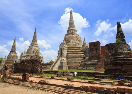Ancient pagoda at Ayutthaya in Thailand photo