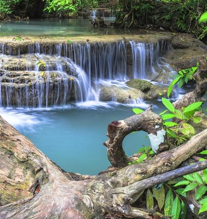 Erawan Waterfall in Kanchanaburi province, Thailand photo