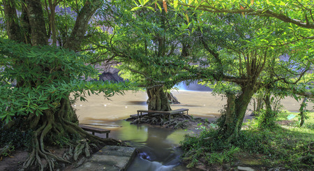 namtok: Chat trakan waterfall in namtok chat trakan national park, phitsanulok province ,Thailand Stock Photo