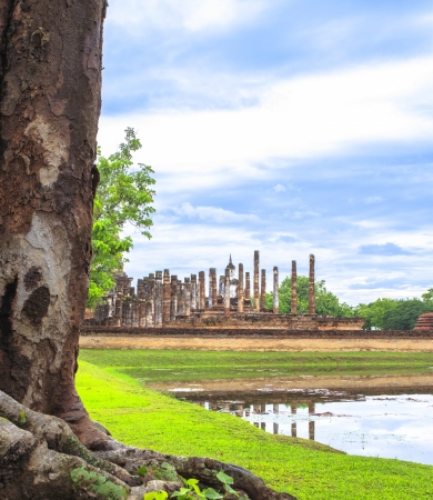 Beautiful Scenery of the Sukhothai Historical Park, Sukhothai Province, Thailand photo