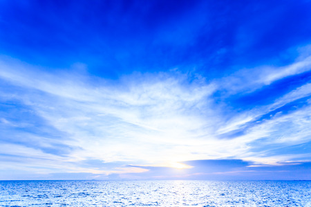 Ocean view in sunny day