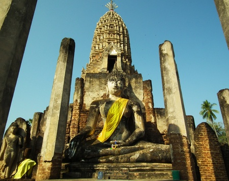 The ancient Sukhothai Historical Park in Thailand photo