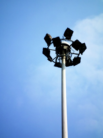 Ground light pole on blusky background Stock Photo - 12407208