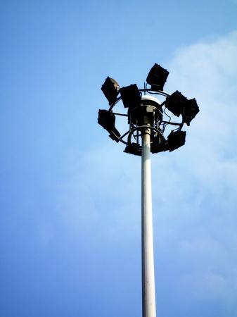 Ground light pole on blusky background Stock Photo - 12407208