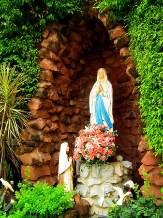 The statue of Virgin Mary photo