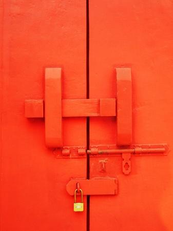 Old chinese door Stock Photo - 12407224