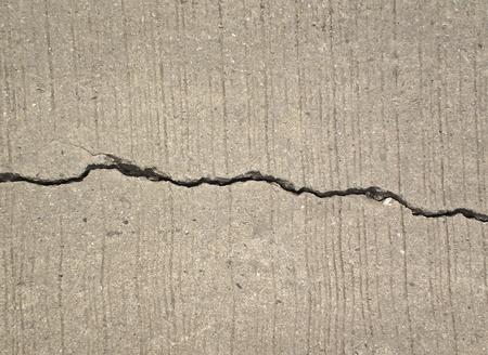Road cracks A Unique Cracked Flooring Standard-Bild
