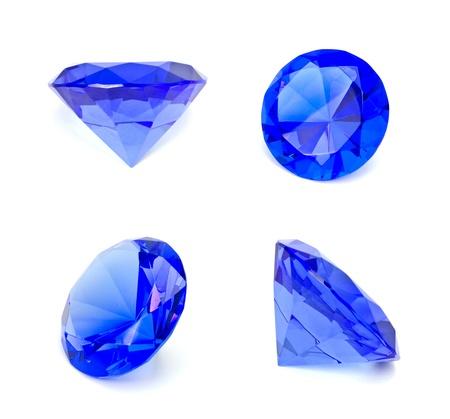 Blue sapphire gemstone isolated