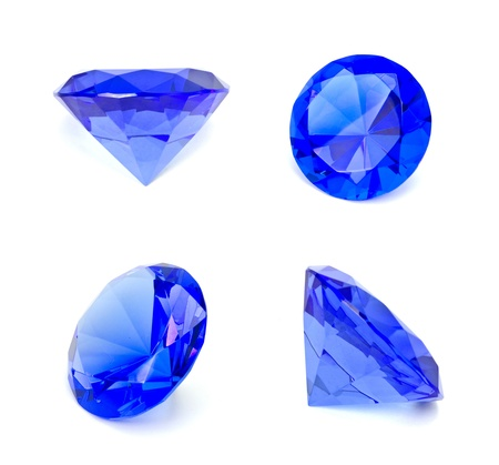 Blue sapphire gemstone isolated