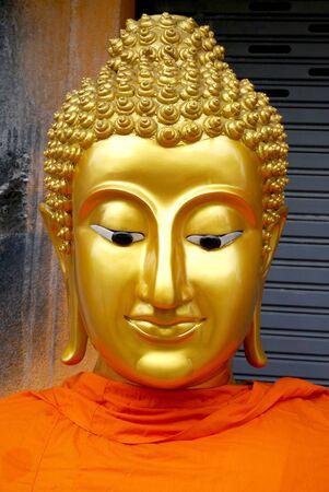 thai budda statue in the thai temple, art of temple thai Stock Photo