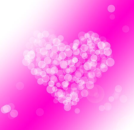 Abstract heart background in pink Stock Photo