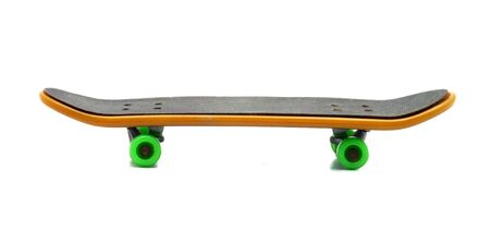 skateboard clipping path isolated on white Stock Photo