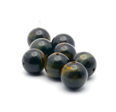Stone beads isolated on the white background .nice photo