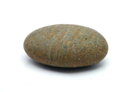 Round stone isolated on white background nice Stock Photo