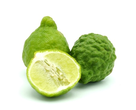 Kaffir lime isolate on white background photo