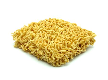 noodles isolated on a white background photo