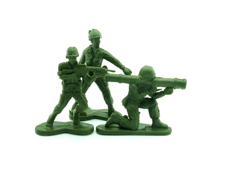 plastic toy soldiers close up