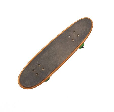 skateboard  isolated on white photo