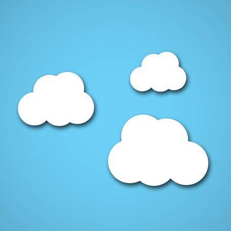 nubes caricatura: Nube de fondo Foto de archivo