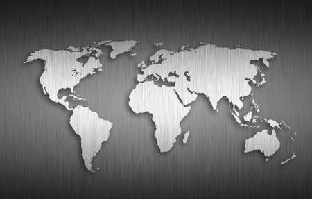 world map Metal background photo