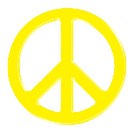 dimensional peace sign