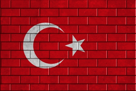 Turkey flag on brick wall