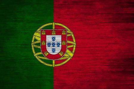 drapeau portugal: portugal bois de texture de drapeau Banque d'images