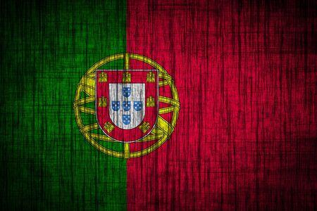 portugal flag  wood texture photo