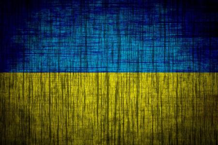 ukraine flag  wood texture
