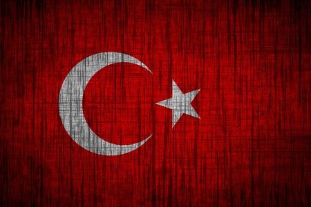 turkey flag  wood texture photo