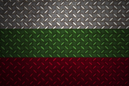 bulgaria Flag Seamless steel diamond plate photo
