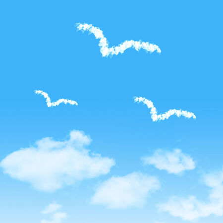 flaying: cloud icon with design on blue sky background