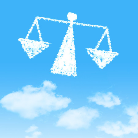 legitimacy: cloud icon with design on blue sky background
