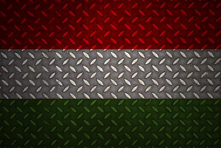 hungary Flag Seamless steel diamond plate photo