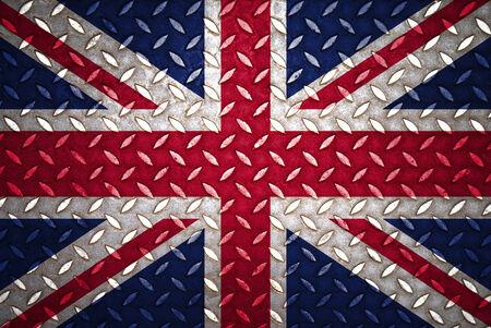 United Kingdom Flag Seamless steel diamond plate photo
